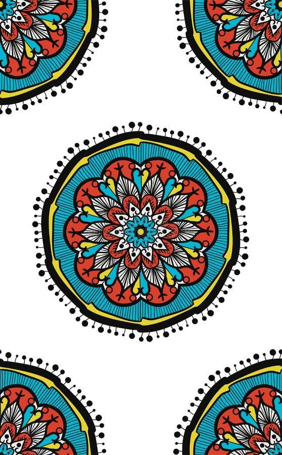 Boho mandala Bezszwowy wzór ilustracja wektor