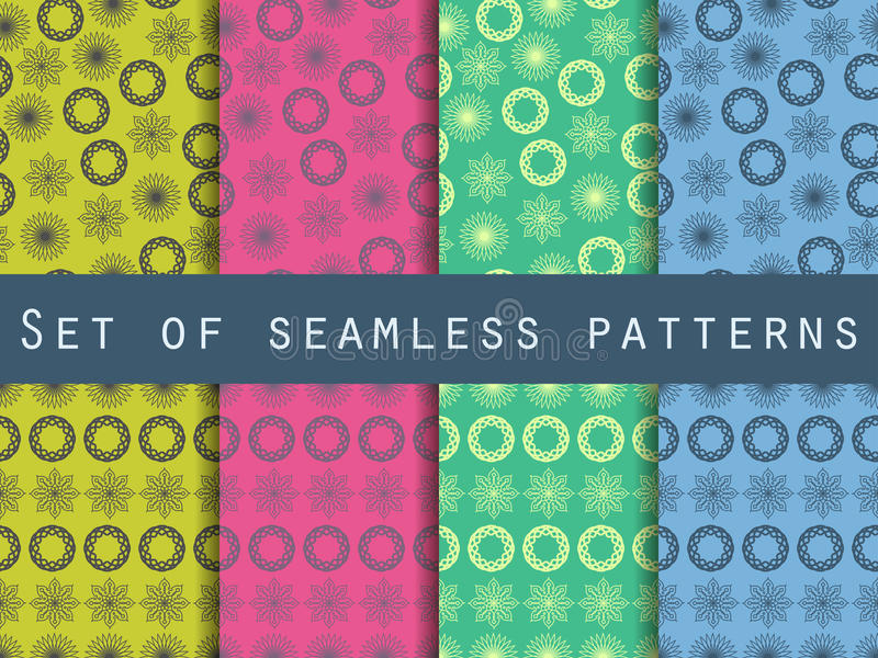 Boho naadloos patroon Etnisch en stammenpatroon reeks Voor behang, bedlinnen, tegels, stoffen, achtergronden vector illustratie