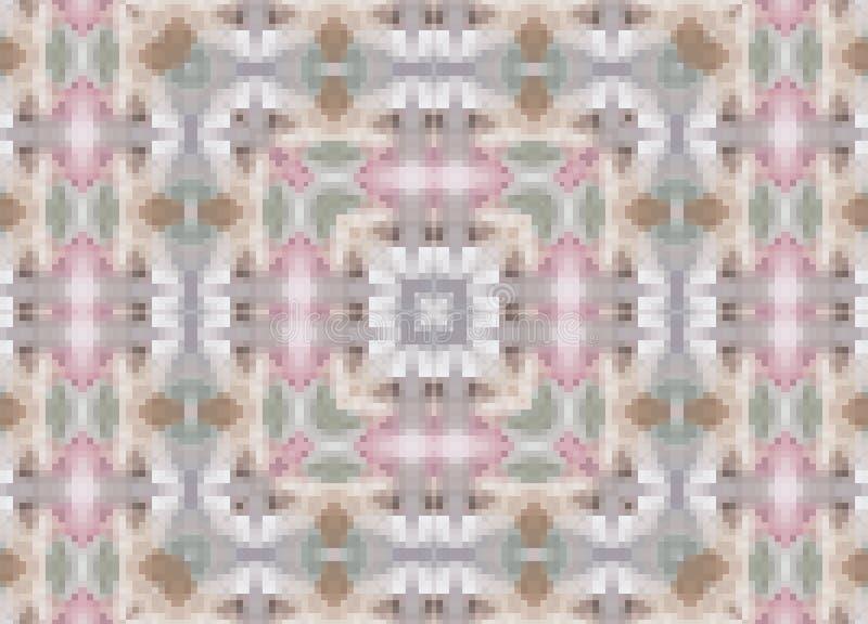 Boho ornamental inconsútil del modelo de la decoración del pixel ilustración del vector