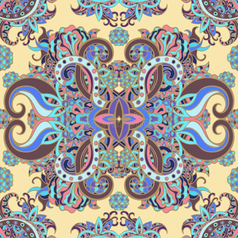 Boho stil, etnisk prydnad, sömlös modell Naturlig modell för abstrakt blom- växt royaltyfri illustrationer