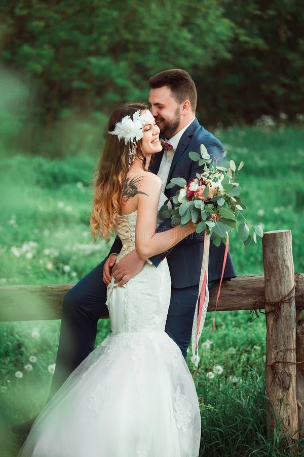 Boho stilbröllop royaltyfri bild