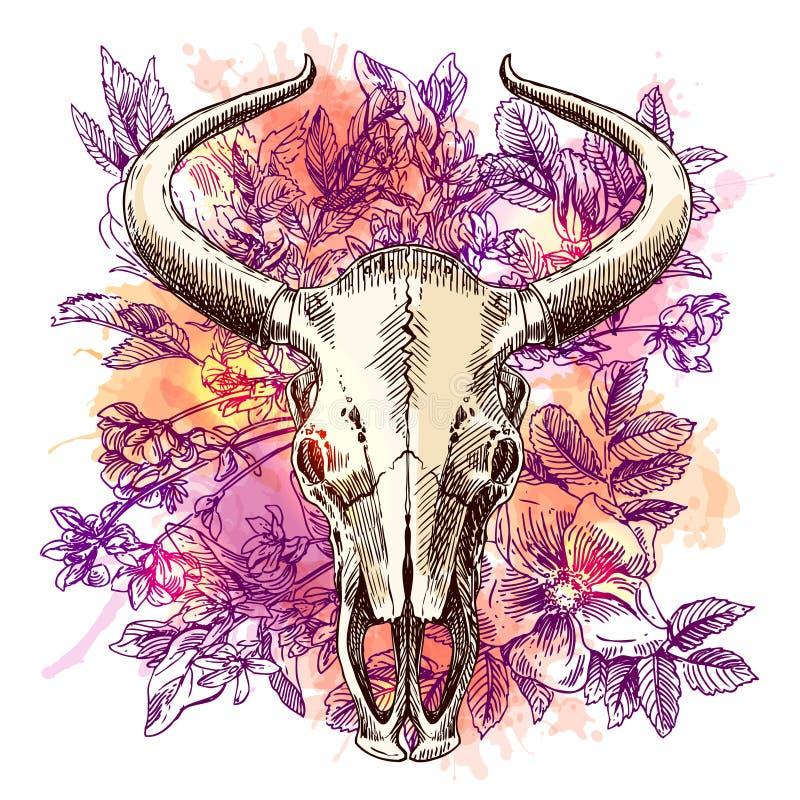 Boho stiltryck för T-tröja vektor illustrationer