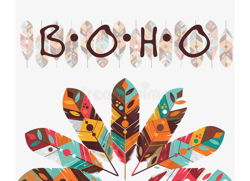 Download Boho Style Design Stock Vector Illustration Of Decoration
