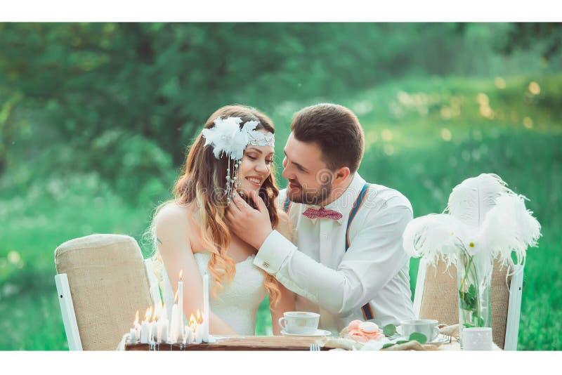 Boho style wedding stock photo