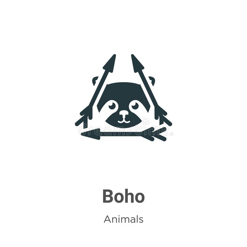 Boho vector icon on white background. Flat vector boho icon symbol sign from modern animals collection for mobile concept and web royalty free illustration