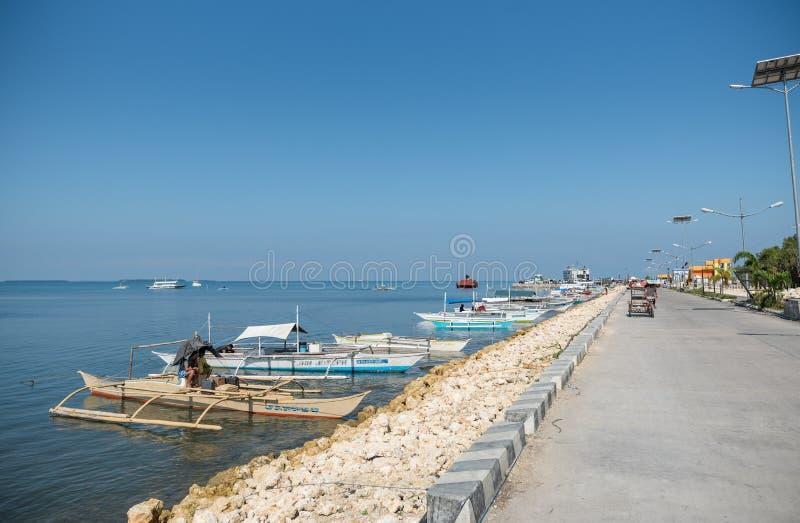 BOHOL, FILIPPINE - 11 FEBBRAIO 2018: Linea costiera nell'isola di Bohol, Filippine immagine stock