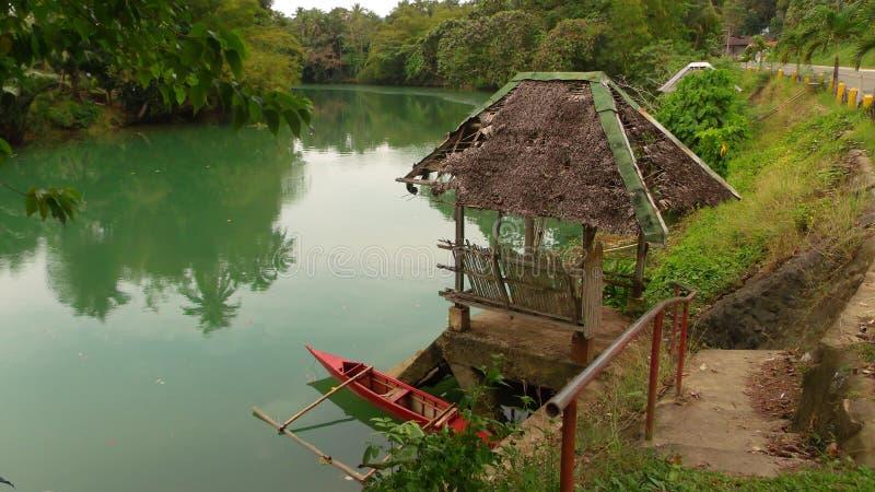 Bohol flod fotografering för bildbyråer