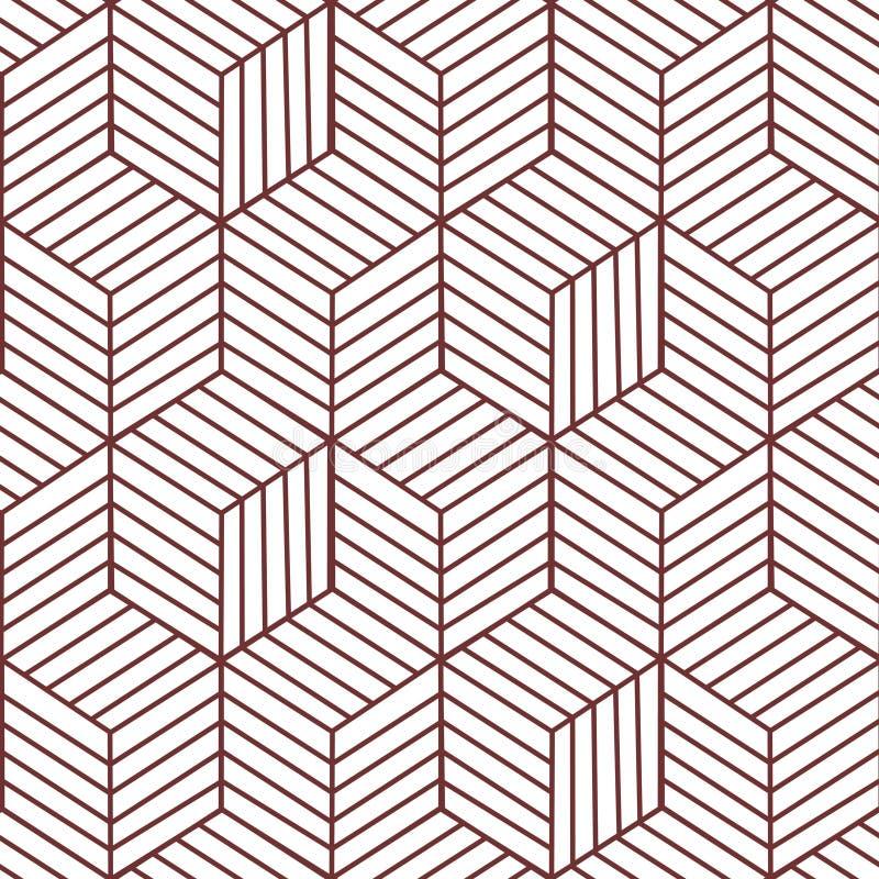 Bohopatroon Het vectorpatroon van de meetkundezigzag Etnisch naadloos ornament Abstracte achtergrond - kleurrijke lijnen Vector i stock illustratie