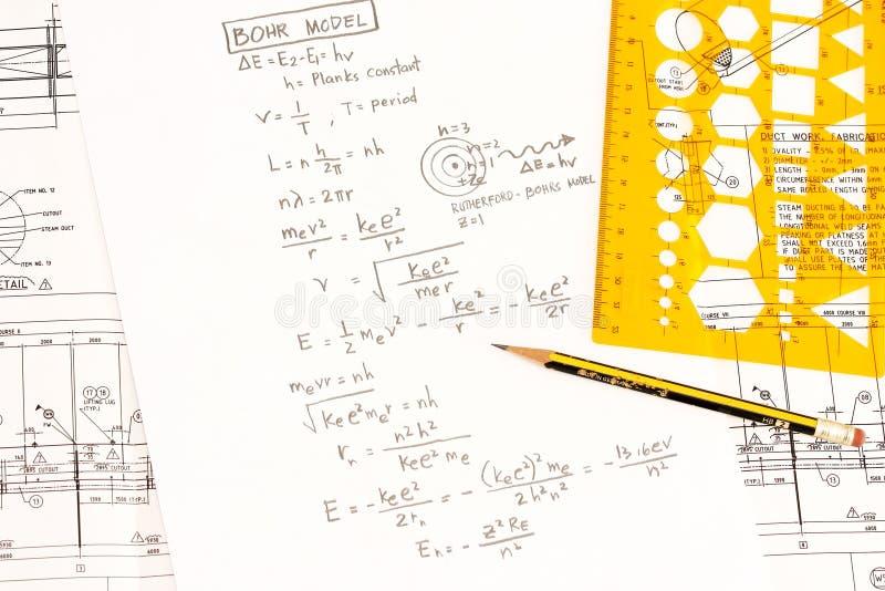 bohr模型物理s 图库摄影