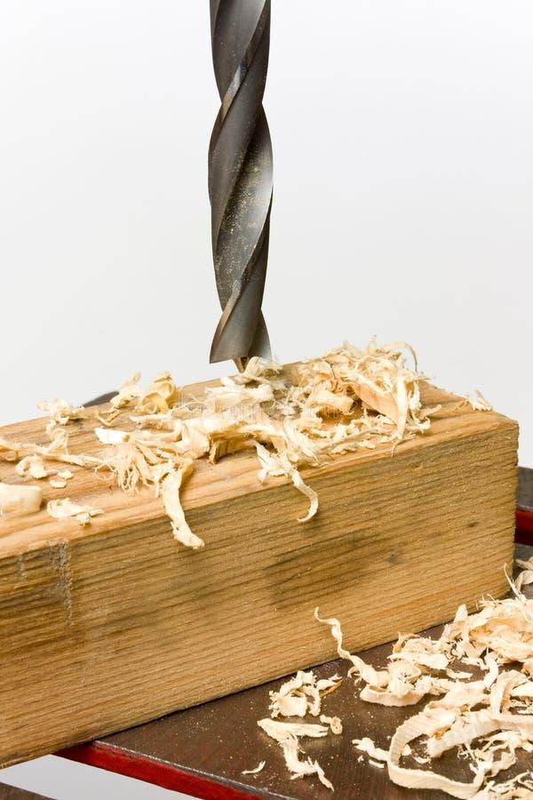 Bohrendes Holz stockfotos