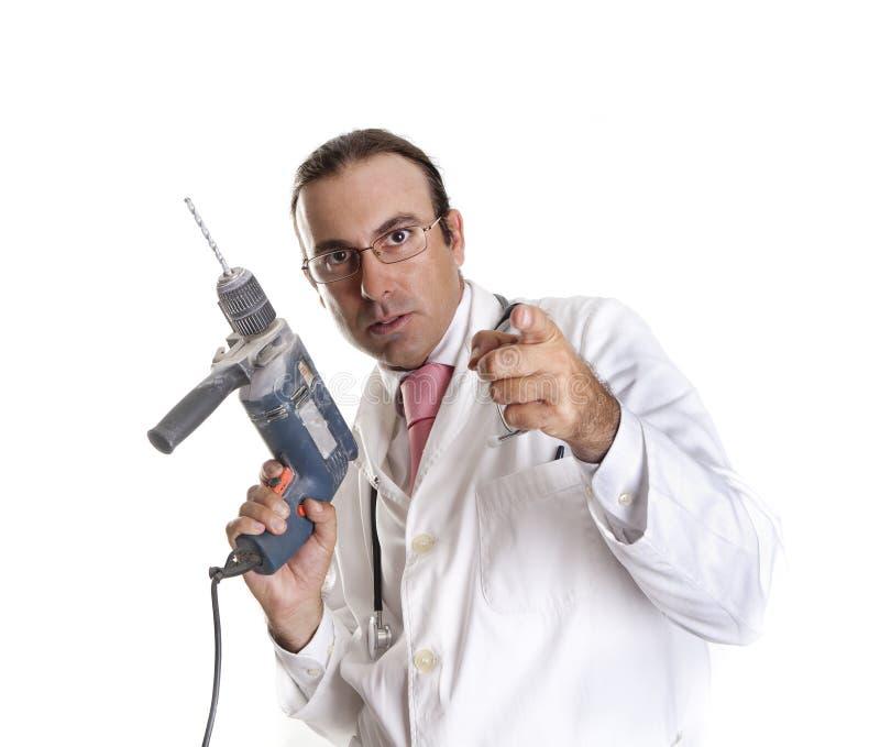 Bohrgerätdoktor stockbild