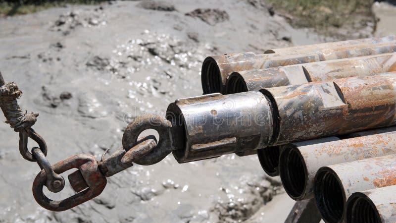 Bohrgestänge auf Ölplattform lizenzfreies stockbild
