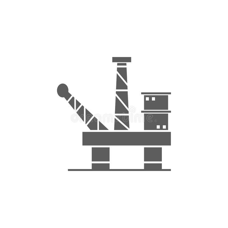 Bohrinselikone Element der Öl- und Gasikone Erstklassige Qualitätsgrafikdesignikone Zeichen und Symbolsammlungsikone für Website stock abbildung
