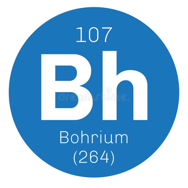 Bohrium chemisch element stock illustratie