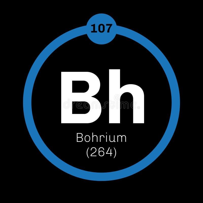 Bohrium chemisch element vector illustratie