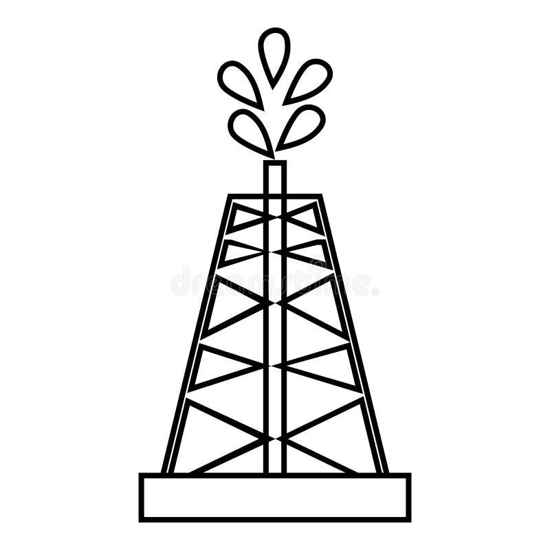 Bohrung der Ölquelleikone, Entwurfsart vektor abbildung