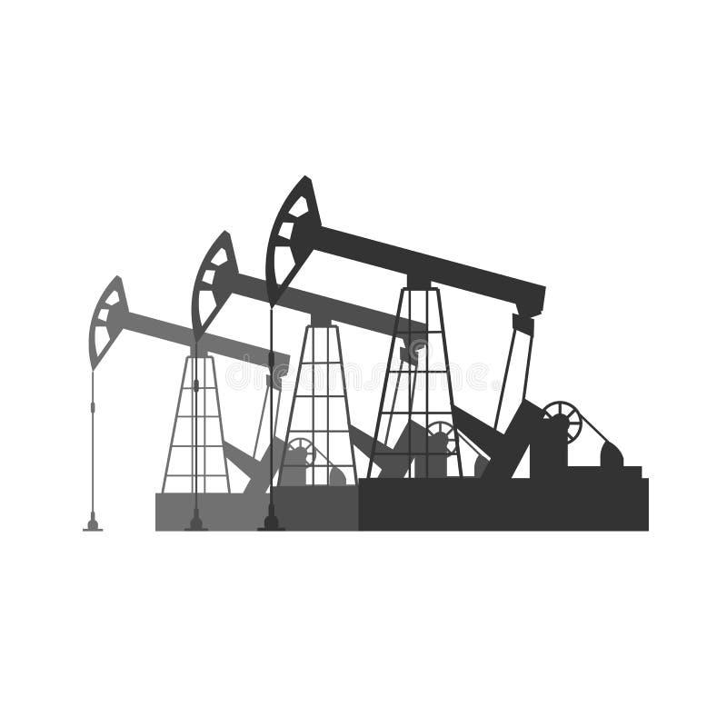 Bohrung in Westsibirien Flache Illustration Turmölsuche Vektors stock abbildung