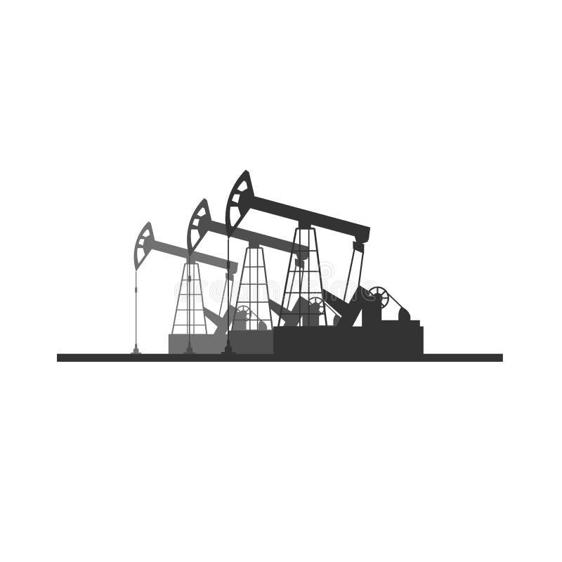 Bohrung in Westsibirien Flache Illustration Turmölsuche Vektors vektor abbildung