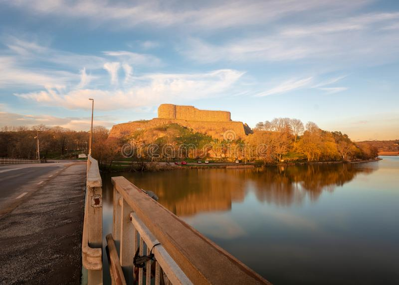 Bohus-Fort das letzte stehende Ruinen-AR-kungalv Gothenburg Schweden stockfotos