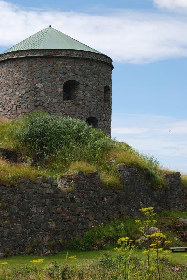 Bohus Fortress-Ruinen lizenzfreie stockfotos