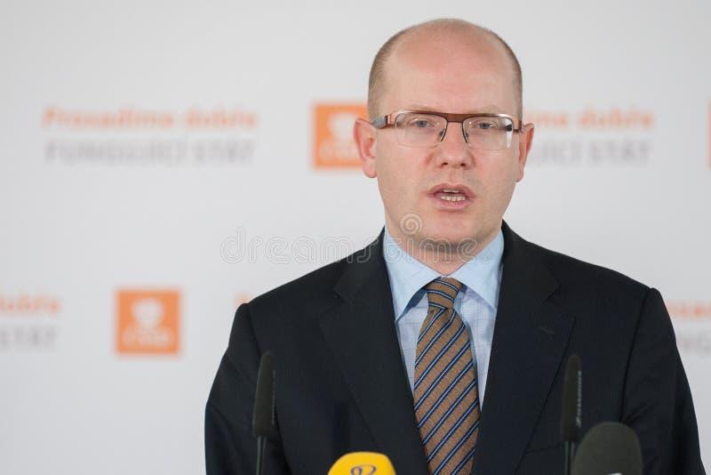 Bohuslav Sobotka lizenzfreies stockbild