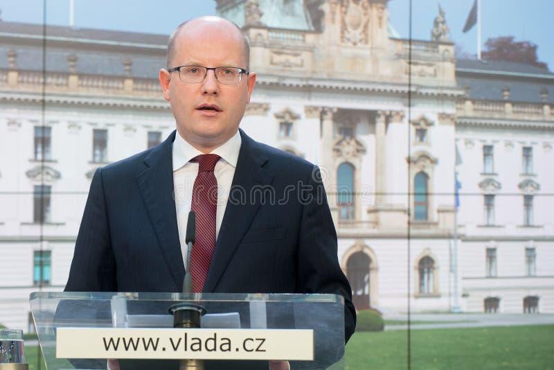 Bohuslav Sobotka lizenzfreies stockfoto