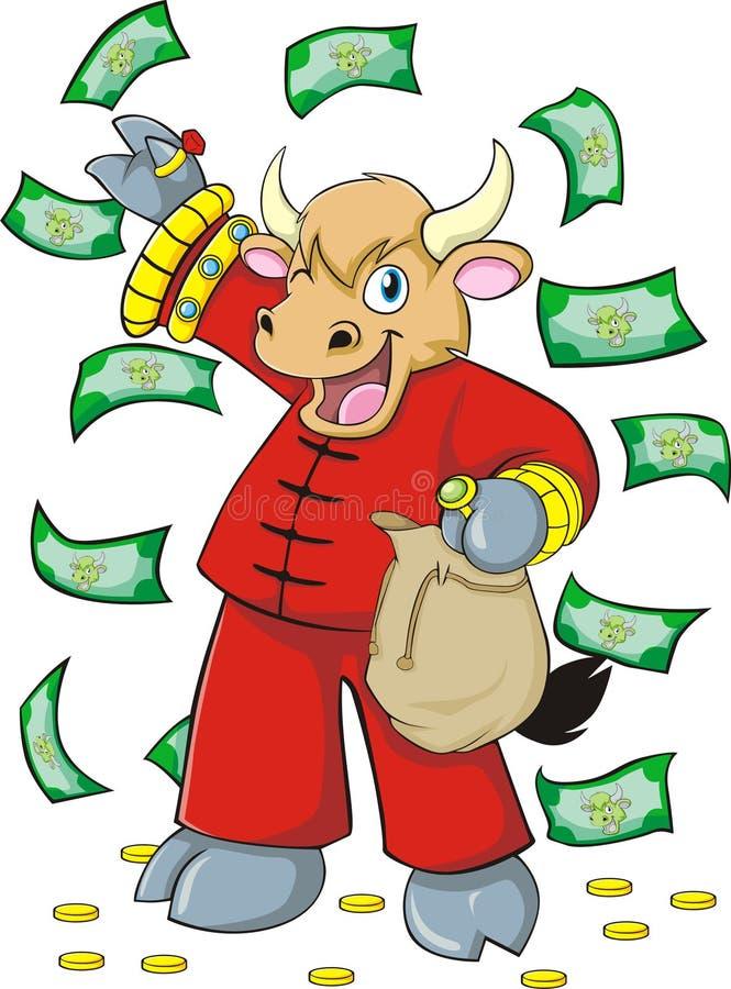 Boi rico rico ilustração royalty free