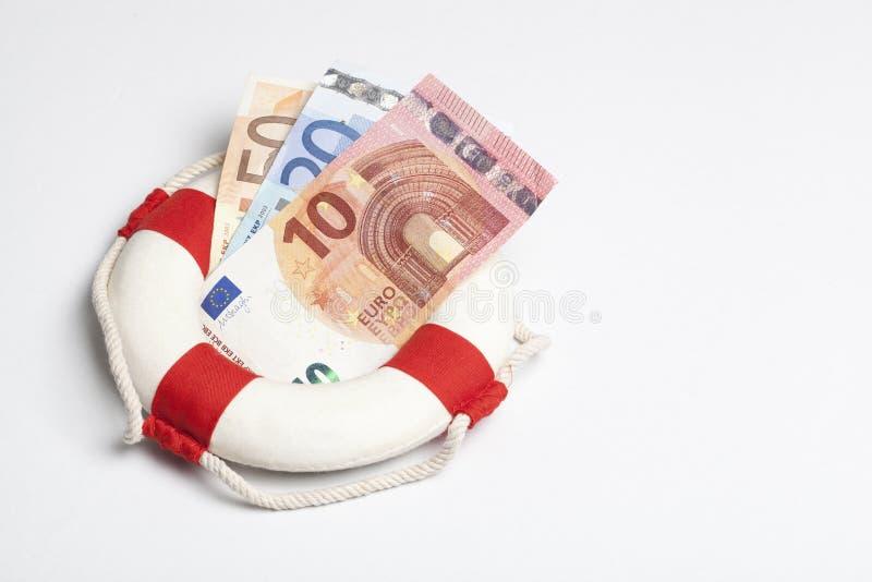 Boia da segurança com euro fotos de stock royalty free