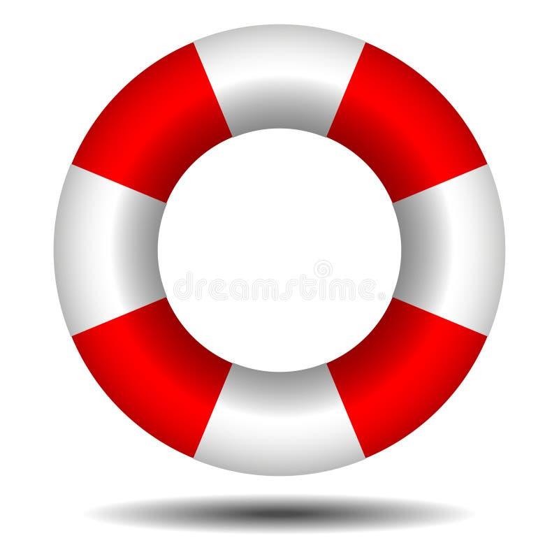 Boia salva-vidas com sombra ilustração stock