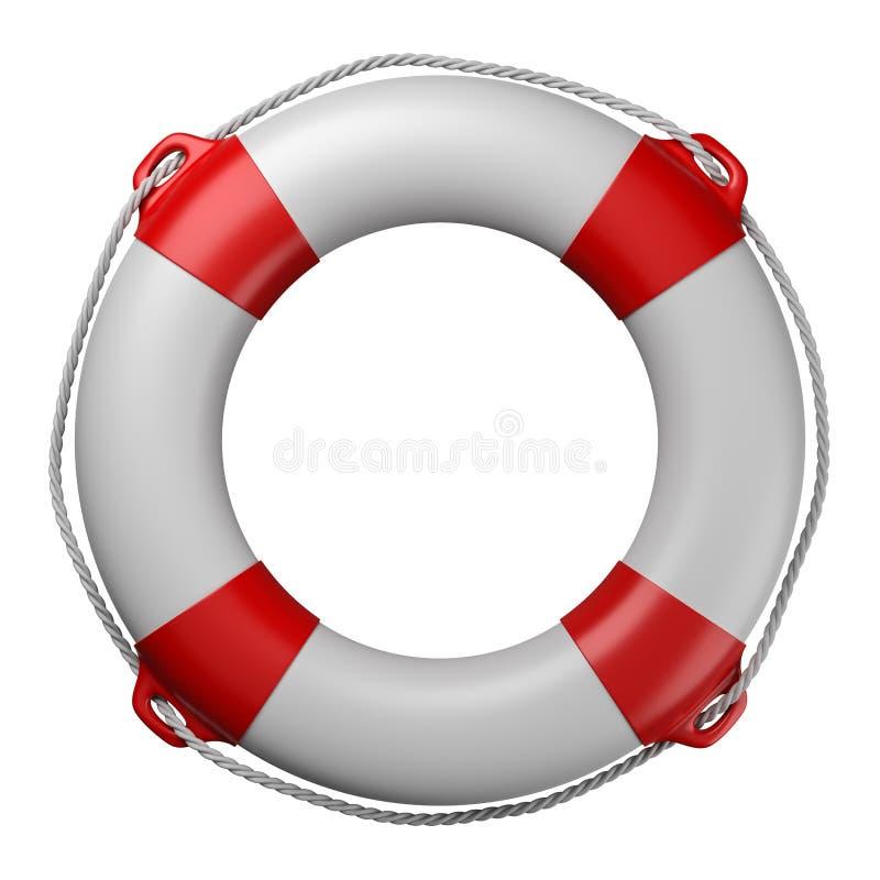 Boia salva-vidas isolado no branco ilustração royalty free