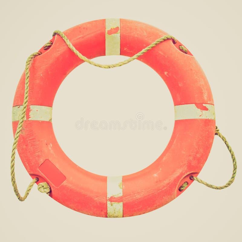Boia salva-vidas retro do olhar imagem de stock