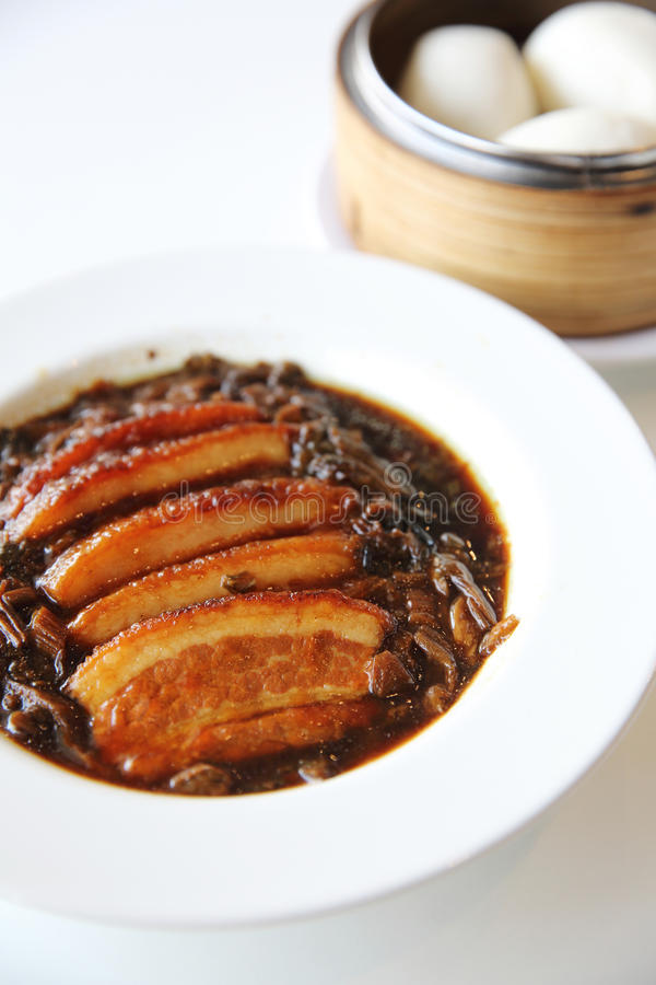 Boiled belly pork Chinese food style royalty free stock images