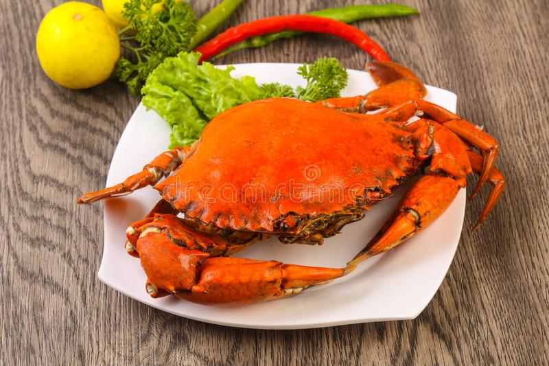 Boiled crab royalty free stock photos