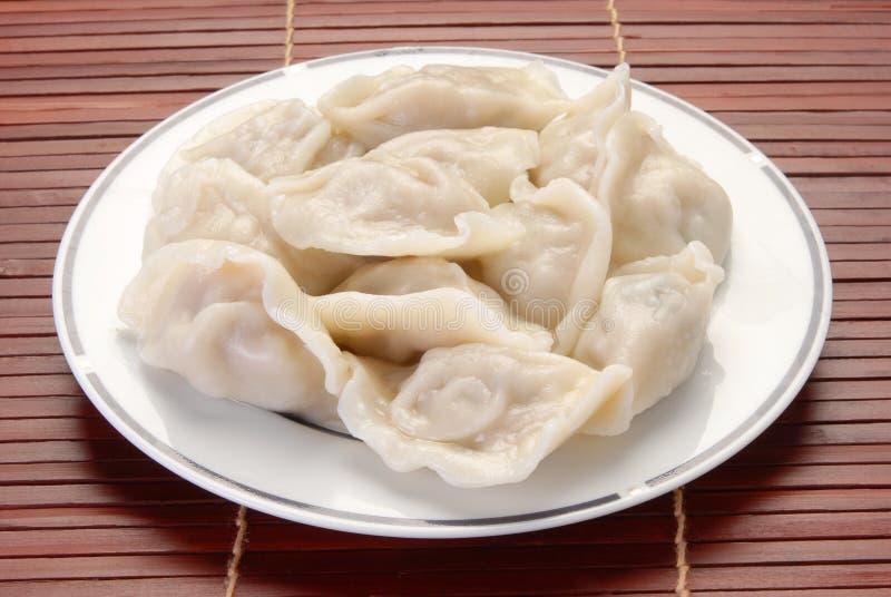 Boiled dumplings stock photography