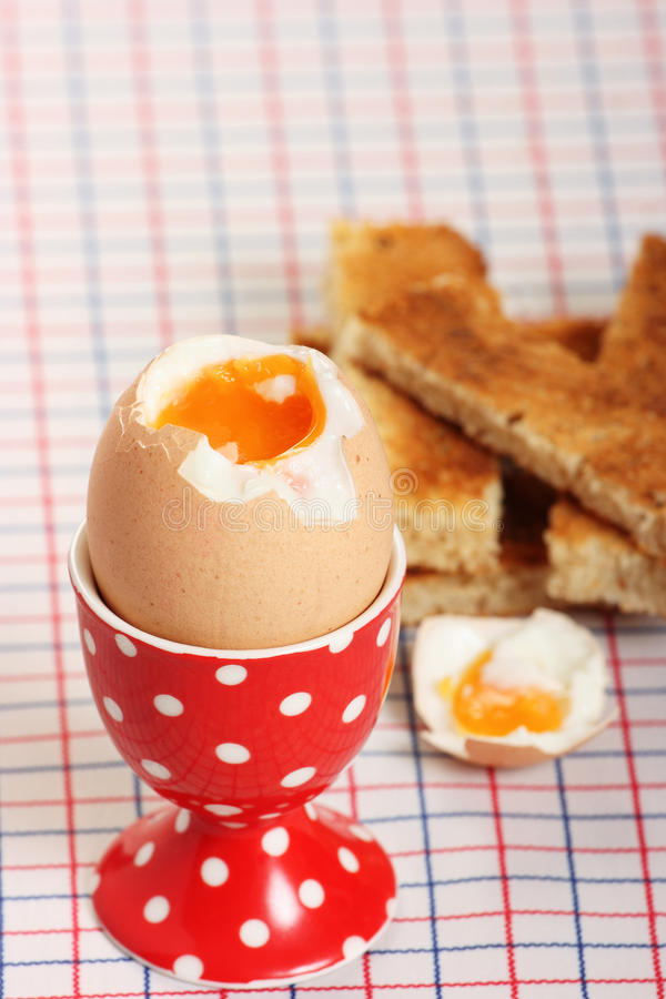 Free Boiled Egg And Toasted Soldiers Royalty Free Stock Photography - 23903177
