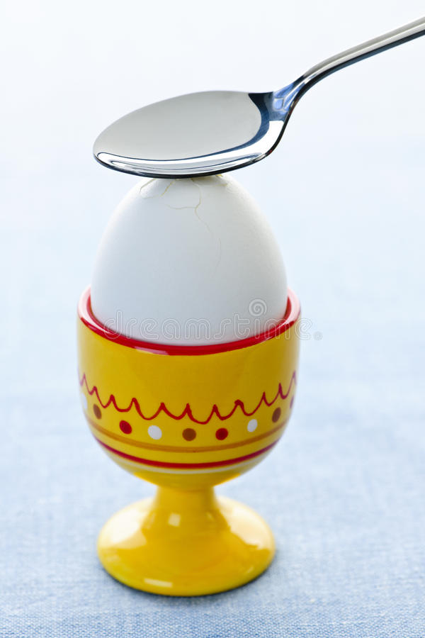 Boiled Egg In Cup Stock Photo