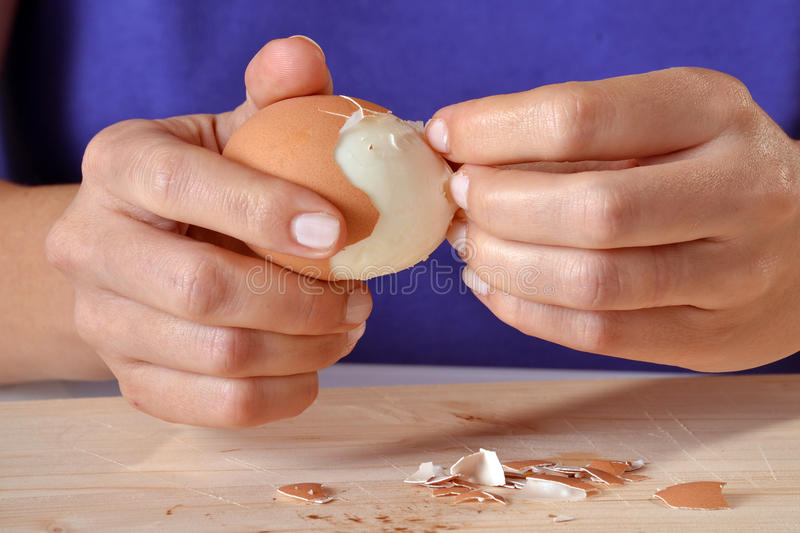 Boiled egg. royalty free stock images