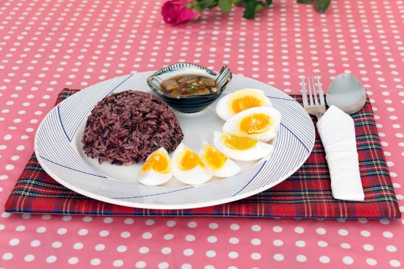 Boiled egg slice stock photography