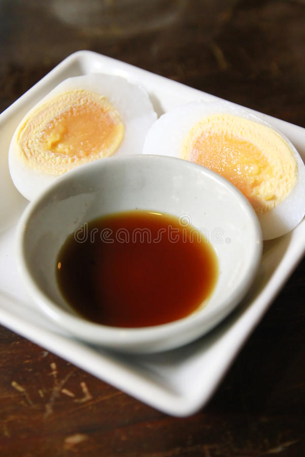 Free Boiled Egg With Soy Sauce Royalty Free Stock Photo - 16011445