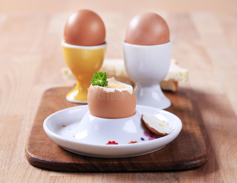 Download Boiled eggs stock photo. Image of cooked, nobody, board - 23434288