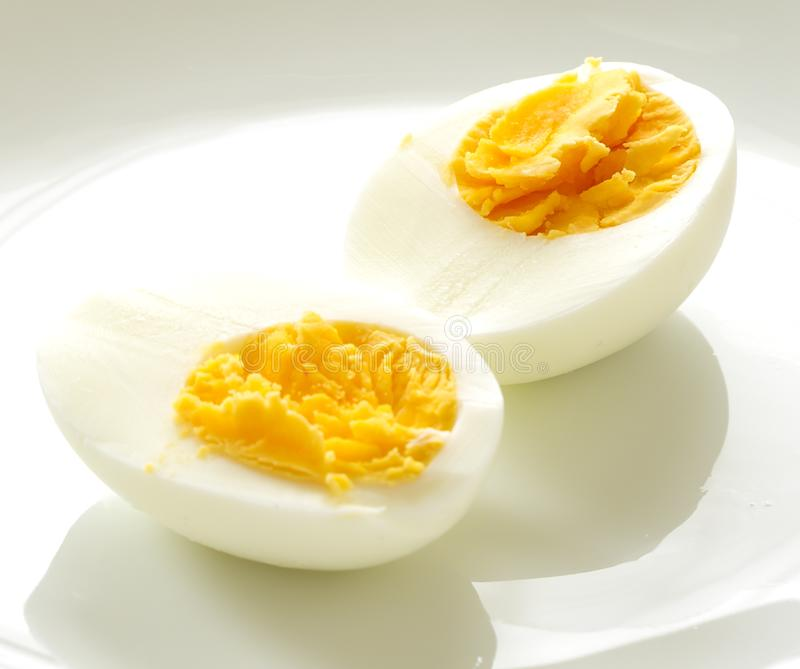 Boiled eggs. Isolated on a white background royalty free stock images