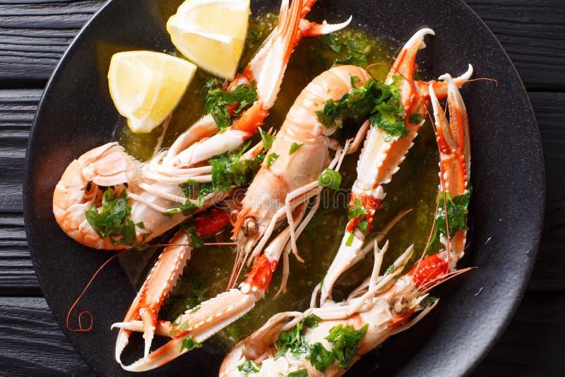 Boiled Nephrops norvegicus, Norway lobster, Dublin Bay prawn, la royalty free stock photo