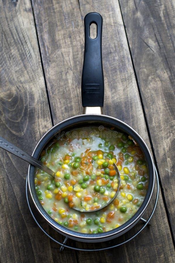 Boiled Organic Vegetable stock image