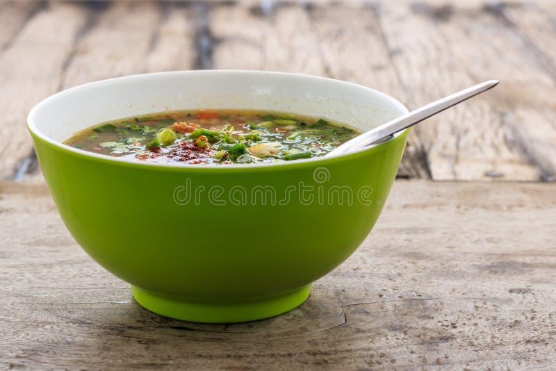 Boiled rice pork or mush, breakfast for thai style stock images