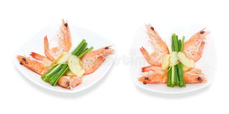 Boiled shrimp royalty free stock photos