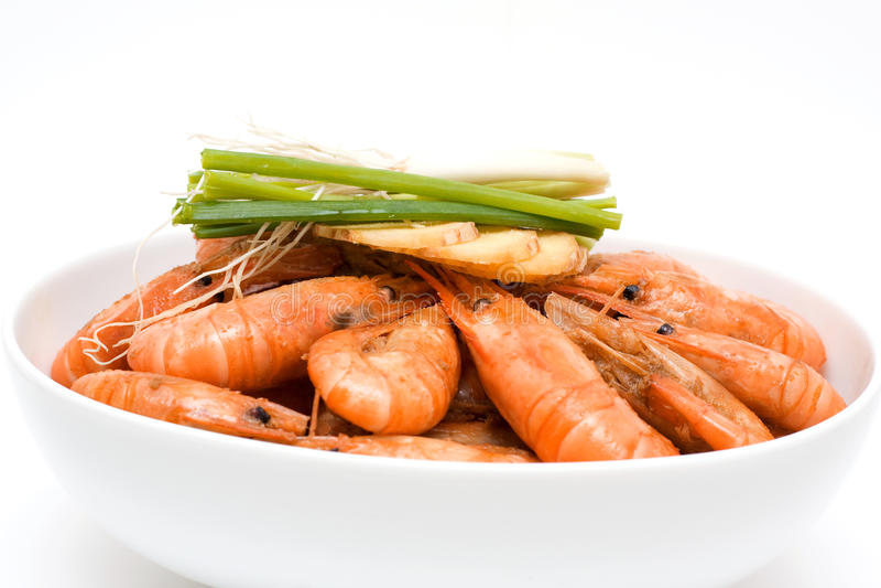 Boiled shrimp royalty free stock photo