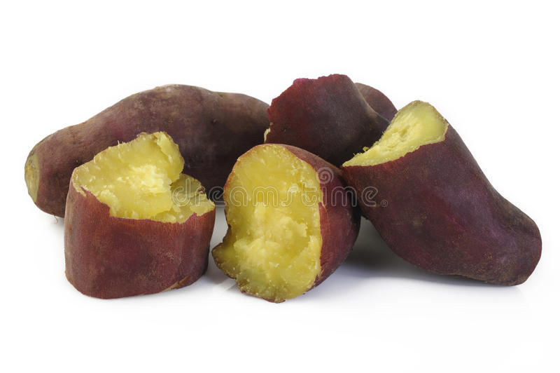 Boiled sweet potato stock images