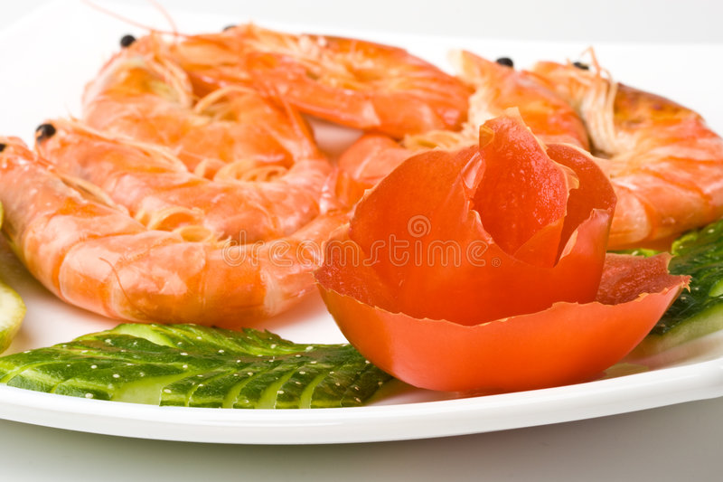 Download The Boiled Tiger Shrimps Royalty Free Stock Photos - Image: 7488118