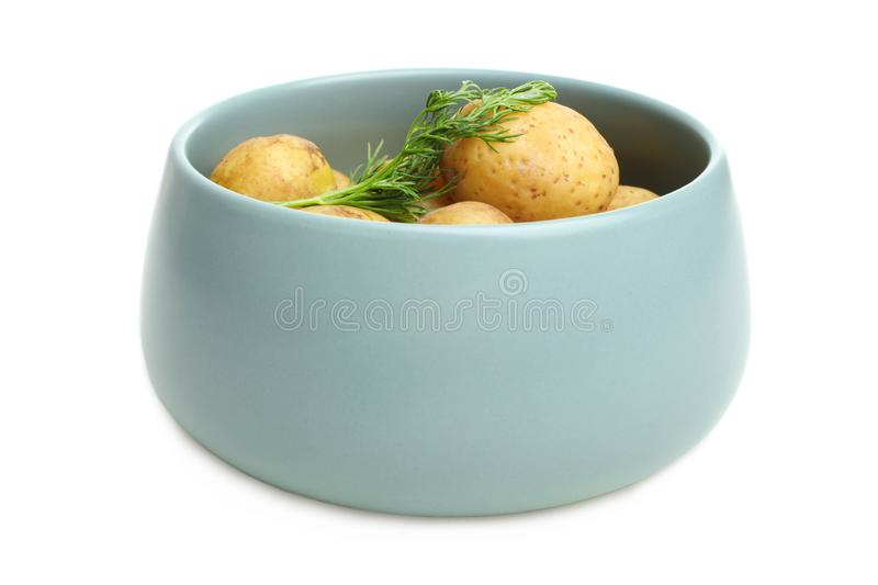 Boiled young potatoes royalty free stock image