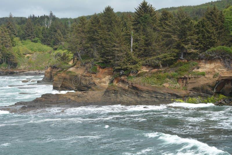 Boiler Bay on the Oregon Coast royalty free stock photo
